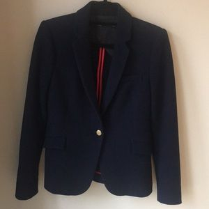 Zara waffle fabric blazer Navy/medium